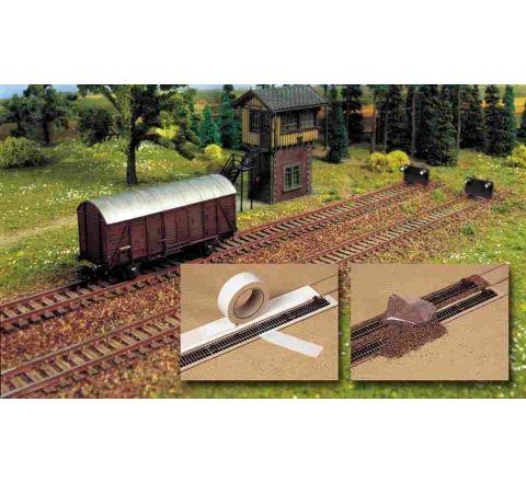 Busch railbedding+grind h0 7090