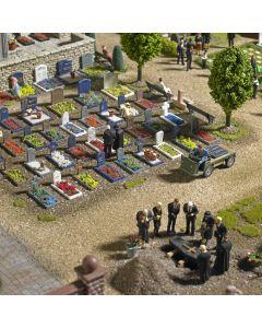 Busch H0 Begraafplaats set met toebehoren 1090