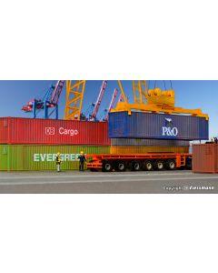 Kibri H0 40 voet Container 6 stuks 10922
