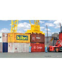 Kibri H0 20 voet Container 8 stuks 10924