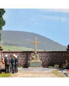 Busch H0 Soldaten begraafplaats met monument 1094