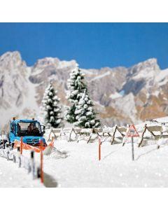 Busch H0 Sneeuwhekken en palen 1120