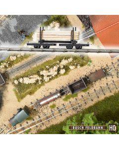 Busch rongenwagen met hout 12221