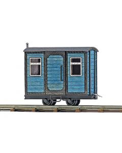 Busch schaftwagen blauw 12232