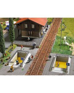 Busch H0 2 voetganger-tunnels 1465