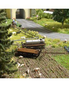 Busch H0 2 Boeren transportwagens 1631