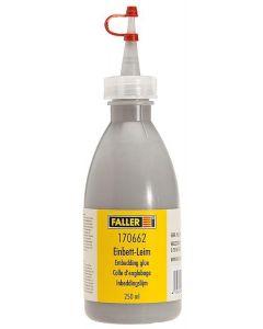 Faller Beddingslijm, grintgrijs, 250 ml 170662