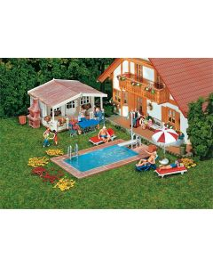 Faller Zwembad en tuinhuisje 180542