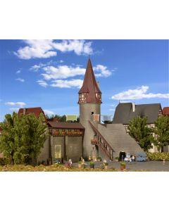 Kibri N Stadsmuur met ronde toren 37364