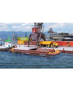 Kibri H0 Haven pontonboot 2 voor goederen of containers 38522