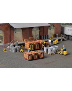 Kibri H0 Decoratieset Kleine container en materialen   38647