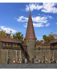 Kibri H0 Stadsmuur met ronde toren in Weil   38915