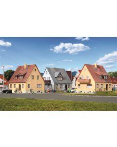 Kibri H0 Set Arbeidershuizen inclusief huisverlichtingsstartset 38995