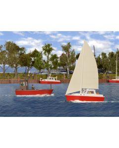 Kibri H0 set met boten 39160