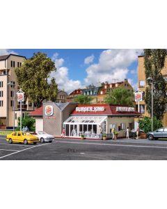 Vollmer H0 Fast food restaurant BURGER KING met inrichting en verlichting 43632