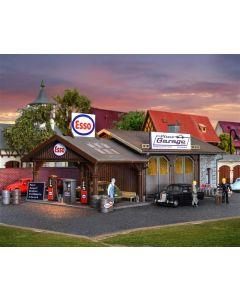 Vollmer H0 Garage met tankstation 45599