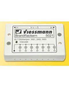 Viessmann Brand flakker-unit voor 7 mini lampjes 5021