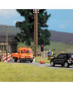 Busch H0 mobiele verkeerslichten voor wegwerkzaamheden 5451