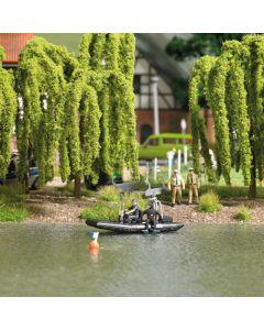 Busch H0 Meer met varende politieboot 5485