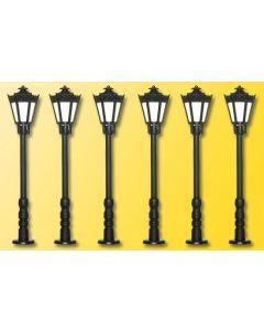 Viessmann Klassieke parklantaarn met LED 6 stuks 60706