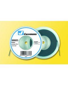 Viessmann Modelspoor stroomkabel op rol 25 meter zwart 68603
