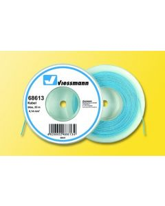 Viessmann Modelspoor stroomkabel op rol 25 meter blauw 68603