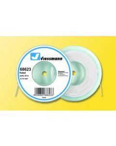Viessmann Modelspoor stroomkabel op rol 25 meter wit 68623