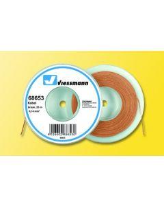Viessmann Modelspoor stroomkabel op rol 25 meter bruin 68653