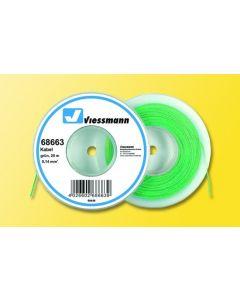Viessmann Modelspoor stroomkabel op rol 25 meter groen 68663
