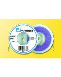 Viessmann Modelspoor stroomkabel op rol 25 meter paars 68673