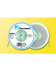 Viessmann Modelspoor stroomkabel op rol 25 meter grijs 68683
