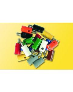 Viessmann modelspoor mini stekkers geel 6870