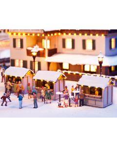 Noch H0 Kleine kerstmarkt 66412