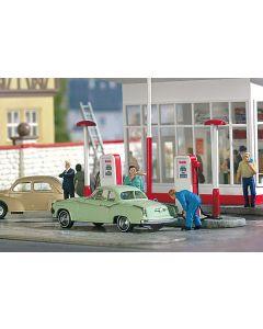 Busch H0 Benzinepompen 50er jaren 7775