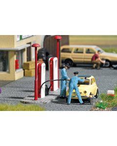 Busch H0 mini scene Tanken 7820