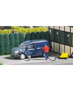 Busch H0 Mini scene auto wassen 7825