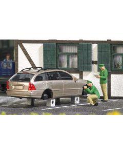 Busch H0 Mini scene gestolen banden 7828