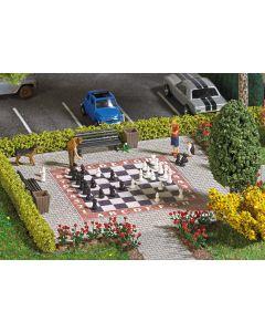 Busch H0 tuin schaakspel 7839