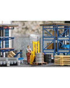 Busch H0 Mini scene Palletwagen 7844