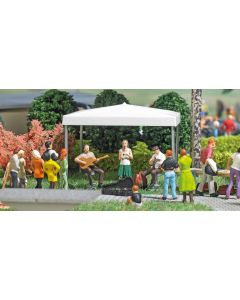Busch H0 Mini scene straatmuzikanten 7846