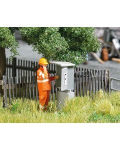Busch H0 Mini scene Signaaltelefoon DB langs het spoor 7847