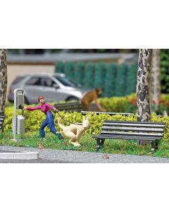 Busch H0 Mini scene Hondentoilet 7851