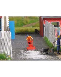 Busch H0 Mini scene veegmachine 7854