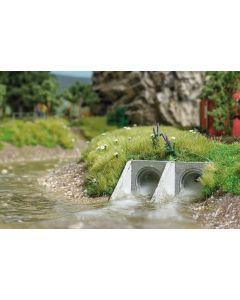 Busch 2 waterpijpen 7891