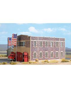 Busch H0 Amerikaans Brandweerkazerne 9732