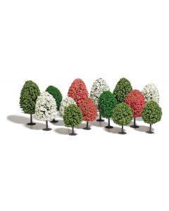 Busch H0 Voorjaarsbomen gemixt 14 stuks 9762