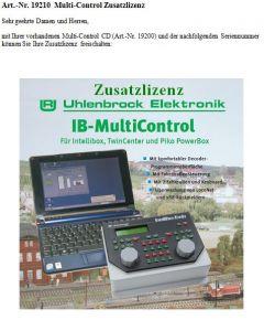 Uhlenbrock Digitaal multi-control licentie 19210
