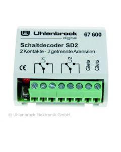Uhlenbrock Digitaal sd2 schakeldecoder 67600