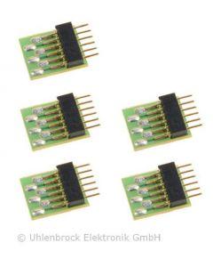 Uhlenbrock Digitaal 6-polige stekker nem 651 5 stuks 71641