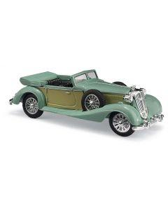 Busch H0 Horch 853 cabrio met open dak groen BA41335